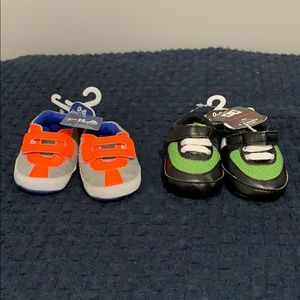 Two Brand New Comfy Fit 0-6 Months Infant Shoes